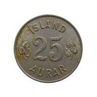 Исландия 25 аурар 1959 г.