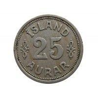Исландия 25 аурар 1940 г.