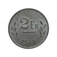Бельгия 2 франка 1944 г.