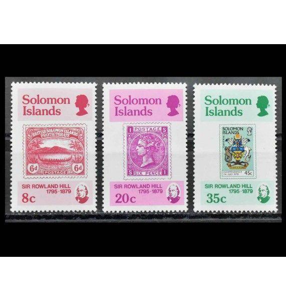 """Соломоновы острова 1979 г. """"100-летие Роуленда Хилла"""""""