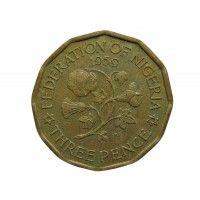 Нигерия 3 пенса 1959 г.