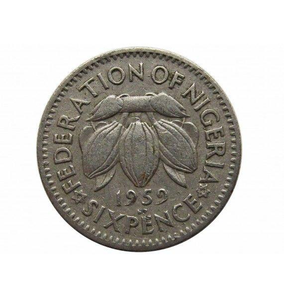 Нигерия 6 пенсов 1959 г.