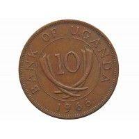 Уганда 10 центов 1966 г.