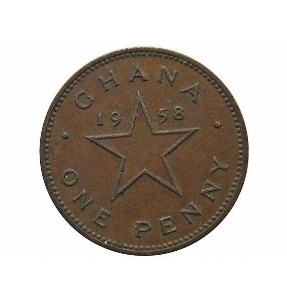 Гана 1 пенни 1958 г.