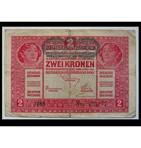 Австрия 2 кроны 1917 г.