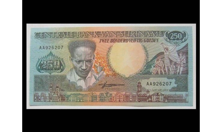 Суринам 250 гульденов 1988 г.
