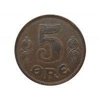 Дания 5 эре 1919 г.
