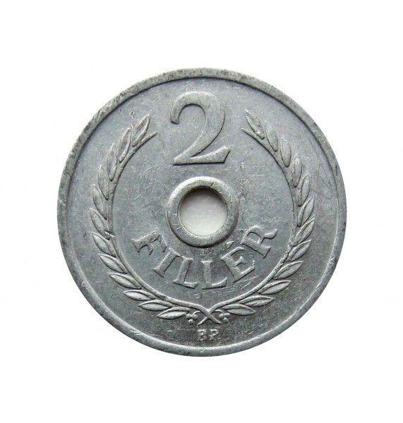 Венгрия 2 филлера 1973 г.