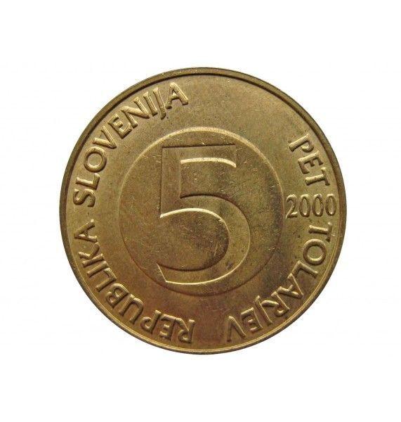 Словения 5 толаров 2000 г.