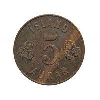 Исландия 5 аурар 1946 г.