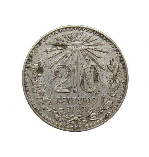 Мексика 20 сентаво 1942 г.