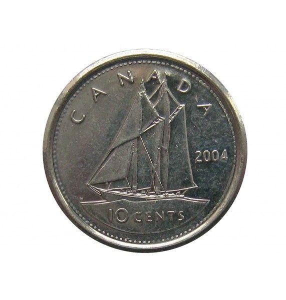 Канада 10 центов 2004 г.