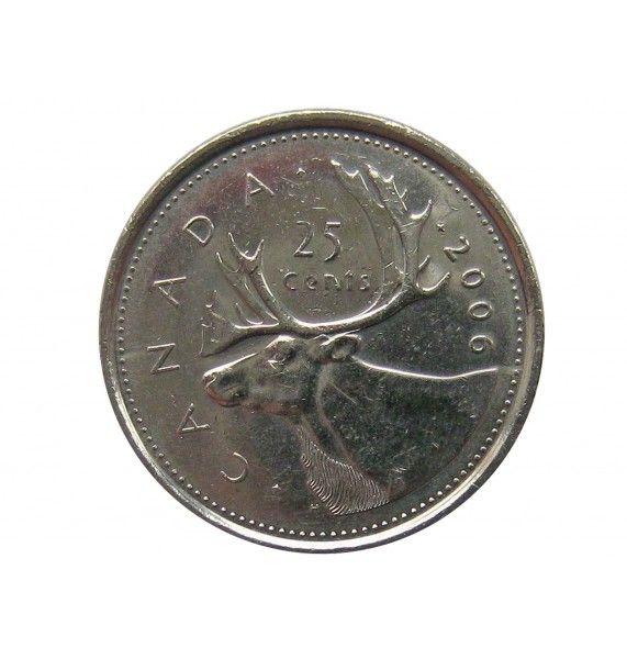 Канада 25 центов 2006 г.