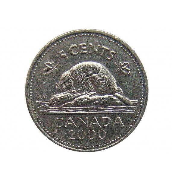 Канада 5 центов 2000 г.