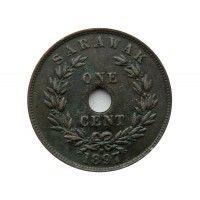 Саравак 1 цент 1897 г. H