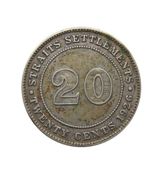 Стрейтс Сетлментс 20 центов 1926 г.