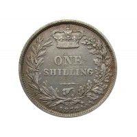 Великобритания 1 шиллинг 1872 г. Die 76