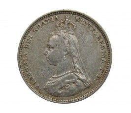 Великобритания 1 шиллинг 1888/7 г.