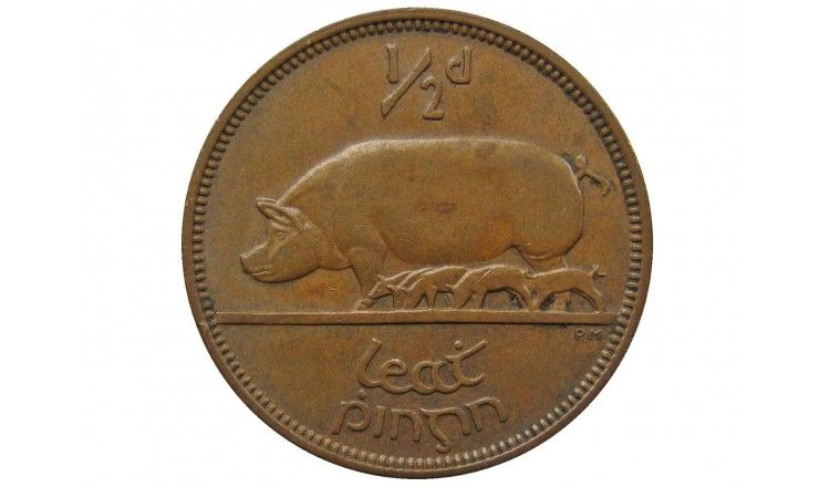 Ирландия 1/2 пенни 1966 г.