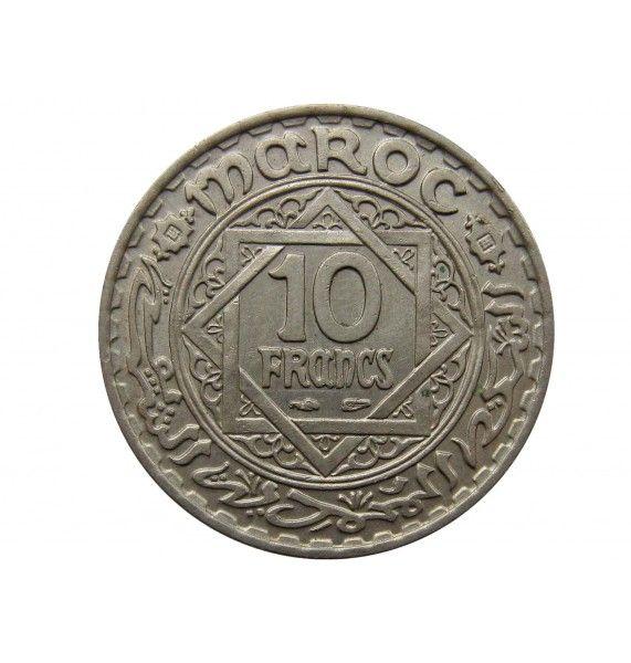 Марокко 10 франков 1947 (1366) г.