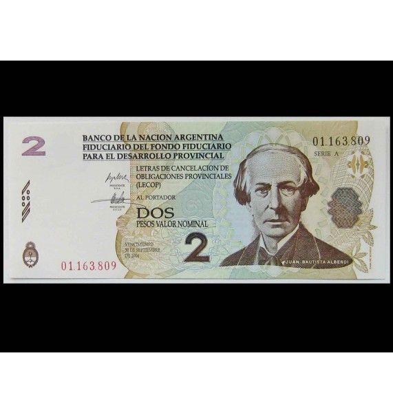 Аргентина 2 песо 2006 г.