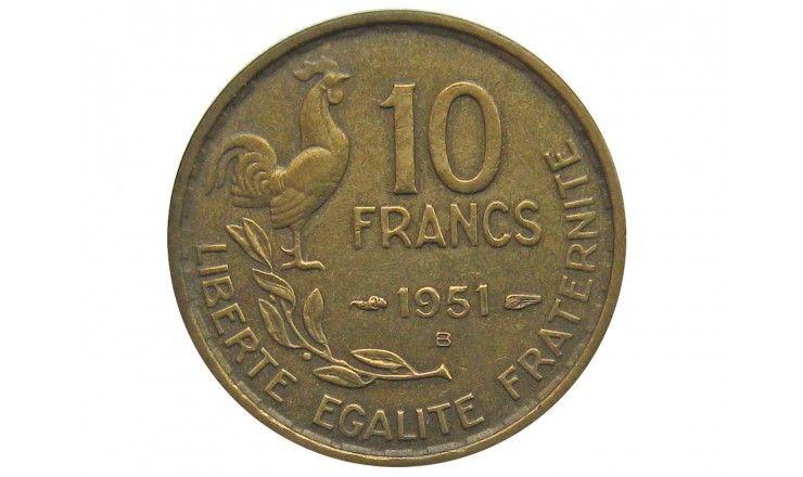 Франция 10 франков 1951 г. В