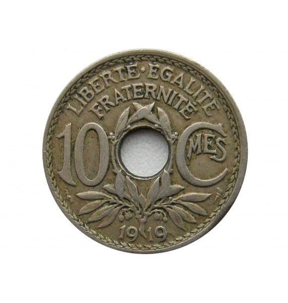 Франция 10 сантимов 1919 г.