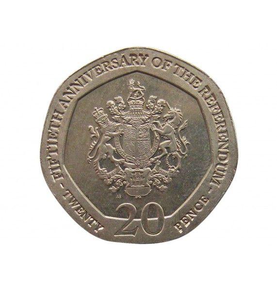 Гибралтар 20 пенсов 2017 г. (50 лет референдуму)