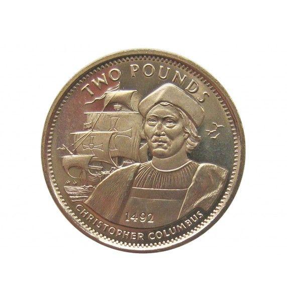 Гибралтар 2 фунта 1992 г. (Христофор Колумб)