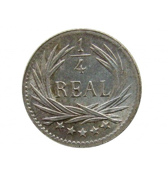 Гватемала 1/4 реала 1898 г.