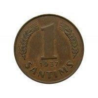 Латвия 1 сантим 1937 г.