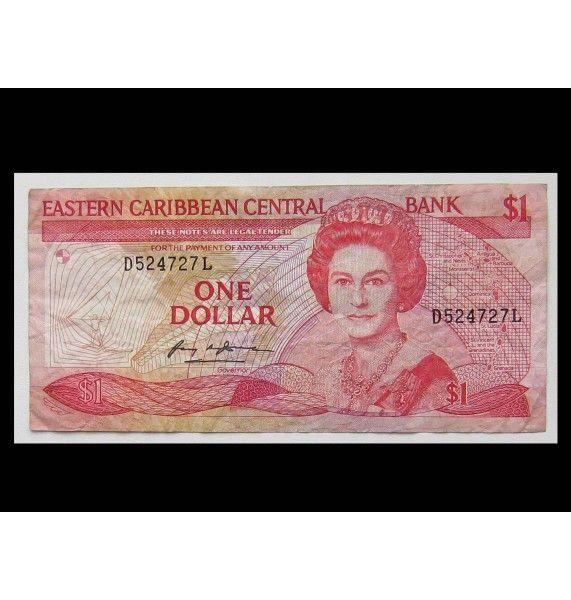 Восточно-Карибские штаты 1 доллар 1988-89 гг.