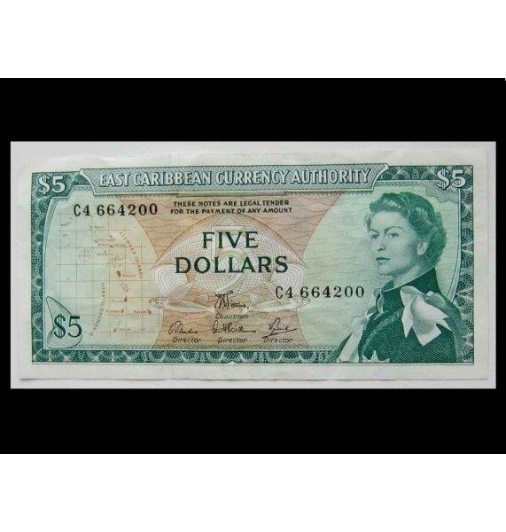 Восточно-Карибские штаты 5 долларов 1965 г.