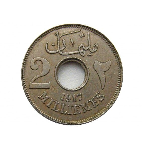 Египет 2 миллима 1917 г.