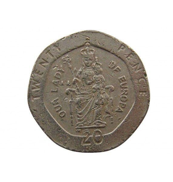 Гибралтар 20 пенсов 1998 г. AA