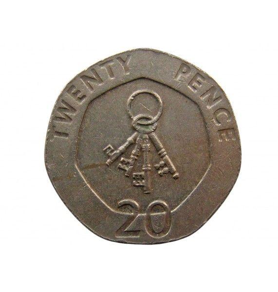 Гибралтар 20 пенсов 2005 г.