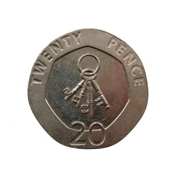 Гибралтар 20 пенсов 2009 г.