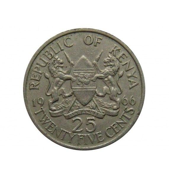 Кения 25 центов 1966 г.
