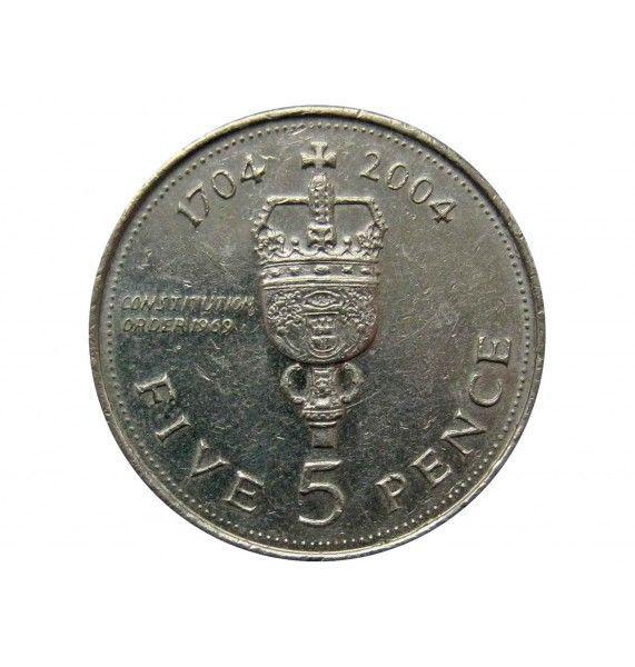 Гибралтар 5 пенсов 2004 г. ( 300 лет захвату Гибралтара)