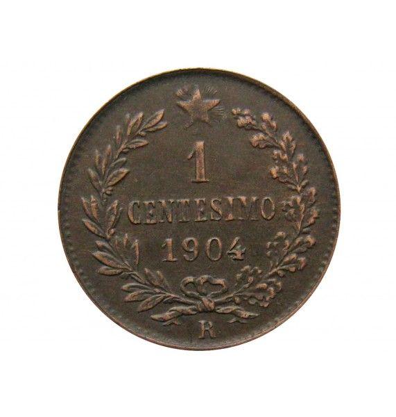 Италия 1 чентезимо 1904 г.