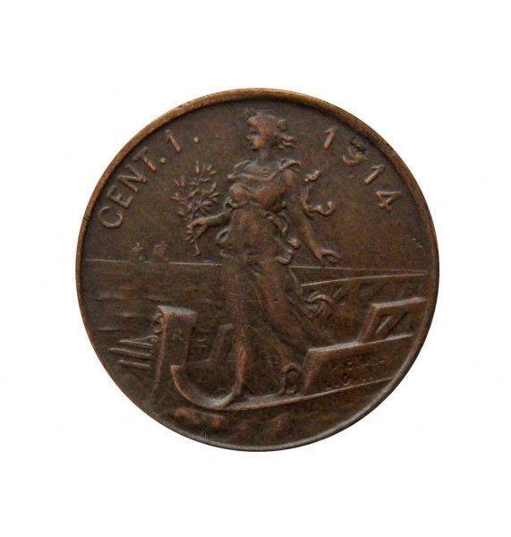 Италия 1 чентезимо 1914 г.