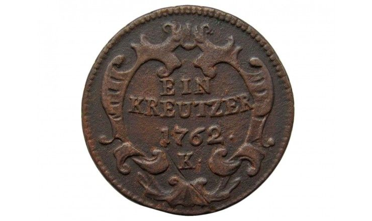 Австрия 1 крейцер 1762 г. K