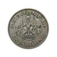 Великобритания 1 шиллинг 1939 г. (шотландский тип)