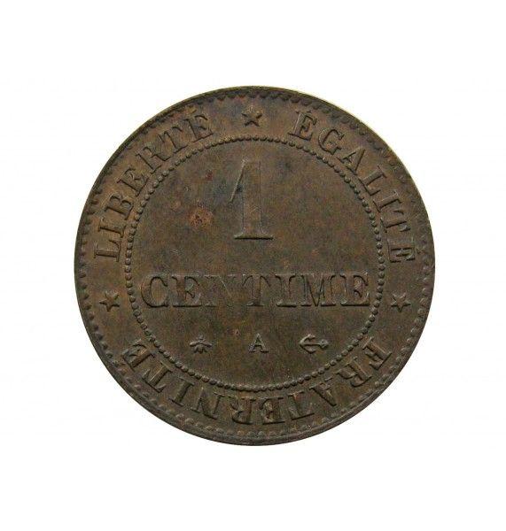 Франция 1 сантим 1875 г. А