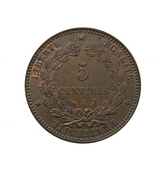 Франция 5 сантимов 1897 г. А
