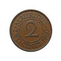 Маврикий 2 цента 1960 г.