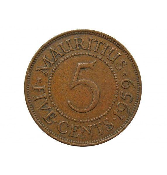 Маврикий 5 центов 1959 г.