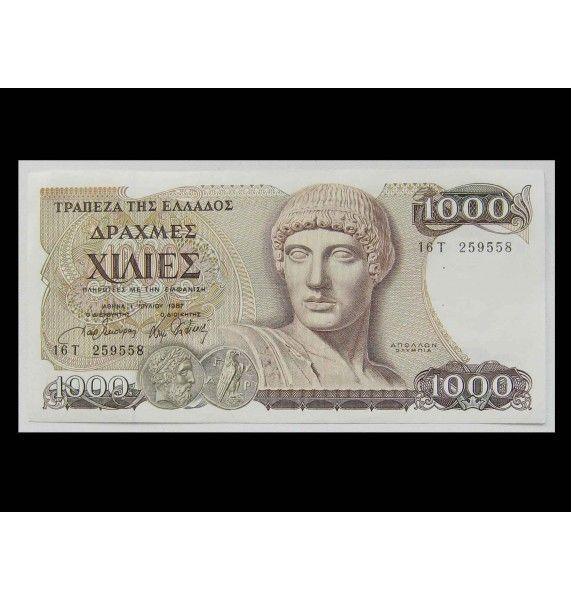 Греция 1000 драхм 1987 г.