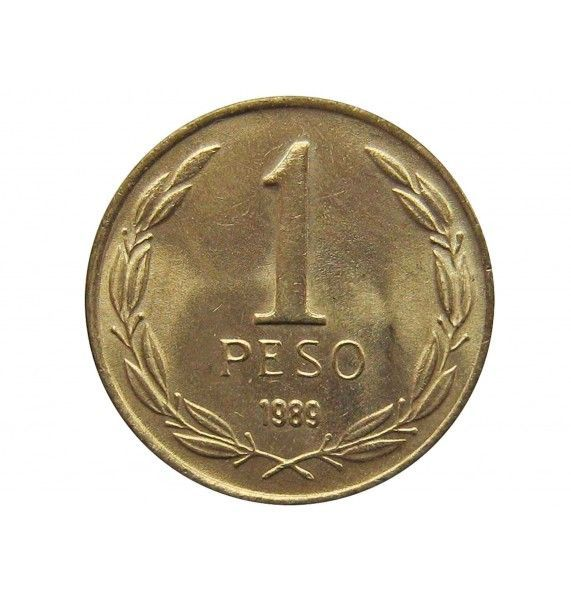 Чили 1 песо 1989 г.