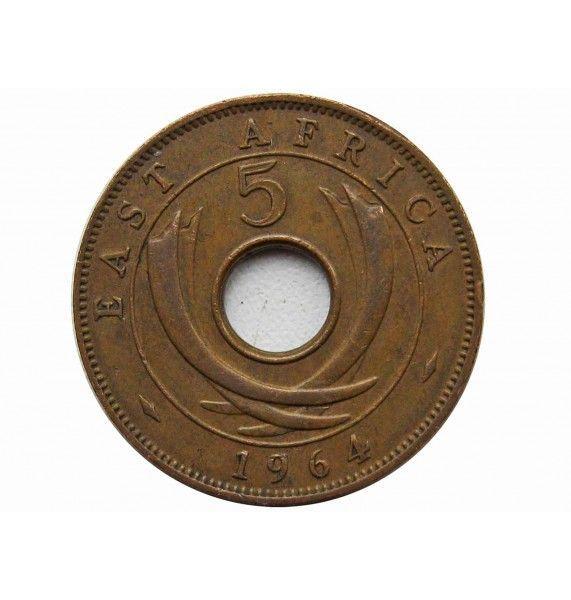 Британская Восточная Африка 5 центов 1964 г.